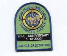 SSP - FOS Friends of Scouting - 93 Anniversary of BSA  - 1910 2003 -