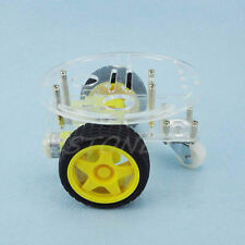 1Set 2WD Mini Round Double-Deck Smart Robot Car Chassis DIY Kit for Arduino