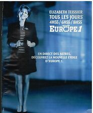 Publicité Advertising 1997 Radio Europe 1 Avec Elizabeth Teissier