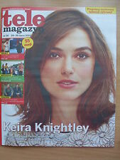 KEIRA KNIGHTLEY on front cover Polish Magazine TELE MAGAZYN 30/2015