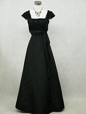 Cherlone Schwarz Lange Ballkleid Brautkleid Hochzeitskleid Brautjungfer Kleid 42