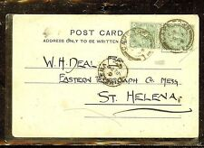 ST HELENA (P0210B) 1904  INCOMING PPC FROM CAPE OF GOOD HOPE ,  INTERESTING