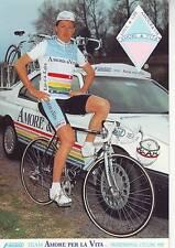 CYCLISME carte cycliste SIMONE BRUSCOLI équipe AMORE PER LA VITA 1990