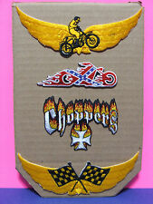 MOTORCYCLE RACING, CHOPPERS, REBEL BIKER, PATCHES FOR BIKER JACKETS OR CLOTHING