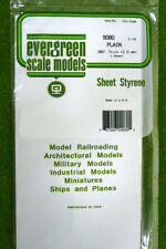 "EVERGREEN SHEET STYRENE White Plasticard .080""  #9080"