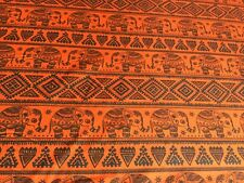 "Asian Style Henna Elephants 100% Cotton Fabric 45"" Wide - Sold Per Half Metre"