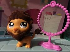 Littlest Pet Shop #809 Special Edition Brown Fuzzy Lion Authentic ❤️