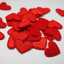 10 x Embroidery Love Red Heart Sew Iron On Patch Badge Bag Hat Jeans Applique