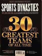 Beckett Entertainment SPORTS DYNASTIES Magazine - 30 GREATEST TEAMS OF ALL TIME