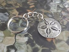 Lucky Piece Item OCEAN SEA JEWELRY 1 PEWTER SAND DOLLAR KEYCHAIN ALL NEW