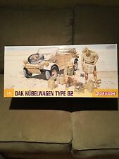 Dragon 1/6 Scale (MODEL KIT) WWII German Type 82 DAK Kubelwagen #75021 N.Africa