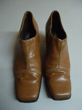 02/225 Paul Green Damen Hochfront Pumps Gr. 37,5 4,5 braun cognac camel 6,5 cm