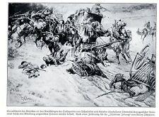 1914 * Ungarische Husaren befreien Österreicher am Duklapaß * antique print