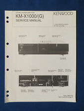 KENWOOD KM-X1000 AMPLIFIER SERVICE MANUAL ORIGINAL FACTORY ISSUE GOOD CONDITION