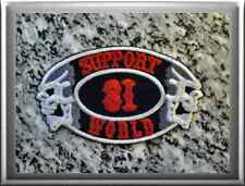 "HELLS ANGELS Support 81 Patch Aufnäher ""SUPPORT 81 WORLD""  P18"