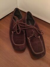 7.5M Aersoloes Women's Brown Suede Lace Up Driving Moccasins