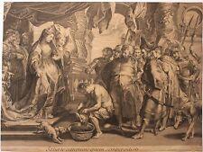 Gravure XVIIIe. Rubens, Lépicié. Engraving, kupferstich, incisione, 18th