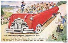 13742/ Leporello-AK, Gruss aus Bad Lauterberg, Bus,  Nachgebühr, 1957
