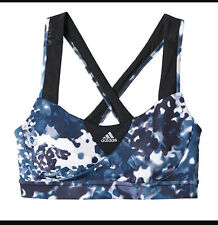NEW ADIDAS SN GRAPHIC BRA TOP-HIGH SUPPORT-BLACK,GREY,WHITE FLORAL-LARGE -AI7827