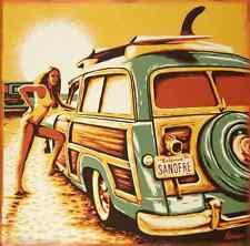 San-O Sticker Decal Art Marco Almera Woody Surfer Girl MA77