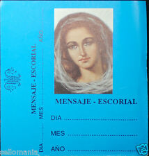 OLD BLESSED VIRGIN MARY HOLY CARD ESCORIAL MESSAGE ANDACHTSBILD SANTINI C689