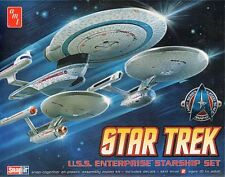 Round 2 AMT Star Trek Cadet Series Set USS Enterprise NCC-1701 A B AMT660 1:2500