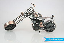 Scrap Metal Art Handmade Nuts and Bolts Chopper Motorbike Gift Model Motorcycle