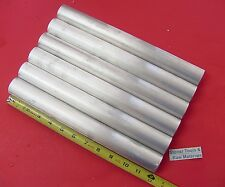 "6 Pieces 1-3/8"" ALUMINUM 6061 ROUND ROD SOLD BAR 12"" LONG STOCK NEW 1.375"" T6511"