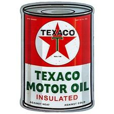 Texaco Embossed & Curved Tin Oil Can Sign  Auto  Garage Man Cave Texaco Shell