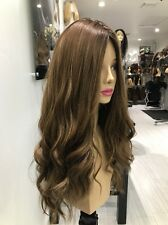 Yaffa Wigs Ready To Wear Brown Human Hair Wig