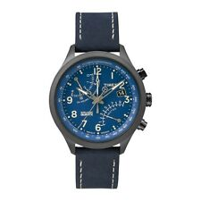 £139.99 Timex Intelligent Quartz T2P380 Mens All Blue Fly-Back Chronograph Watc