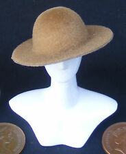 1:12 Scale Ladies Light Brown Hat Dolls House Miniature Clothing Accessory
