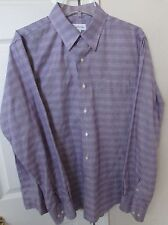Tommy Bahama 100% Cotton Mens Long Sleeve Dress Shirt Purple 16.5 36/37