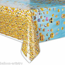 "54""x84"" Official Emoji Smiley Face Birthday Party Plastic Table Cover"
