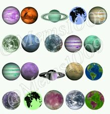 Planets Nail decals (Water Decals) Solar System nail decals