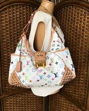 Authentic LOUIS VUITTON White Canvas Monogram Multicolor Chrissie Hobo Bag