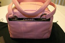 NEW! CHANEL CAVIAR PINK LEATHER SQUARE STITCHED SATCHEL BAG
