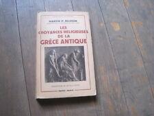 Martin. P. NILSSON: les croyances religieuses de la Grèce antique