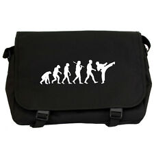 Evolution of Karate Black Messenger Flight Bag mma ufc fight taekwondo judo NEW