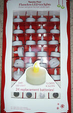 NEW 24 LED Tea Light CANDLES Flameless wedding REPLACEMENT Batteries included