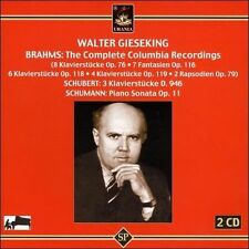 Walter Gieseking Plays Brahms New CD