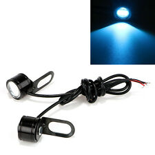 Pair Ice Blue Motorcycle LED DRL Daytime Running Fog Light Reverse Backup Lamp