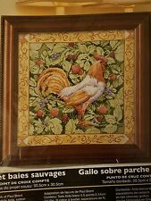 Bucilla Cross Stitch Kit Berry Patch Rooster by Paul Brent