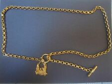 Rare Find!!! Kieselstein-Cord Art Bronze Alligator Chain Belt/Necklace