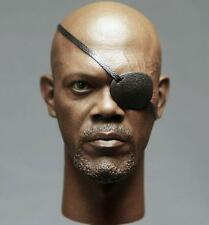 1/6 Samuel Jackson Head Sculpt for Black Skin Nick Fury Body The Avengers 2