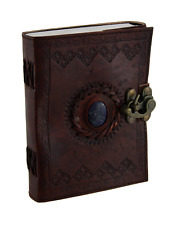 HANDMADE Leather Diary Notebook Vintage Planner Retro Clasp Lock JOURNAL Brown