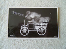 A HAPPY EASTER - DUCKLINGS IN CARRIAGE - 1907 ROTOGRAPH 1908 PM PHOTO POST CARD