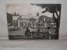 Vecchia cartolina foto d epoca di Chianciano Terme Piazza Italia scorcio cinema
