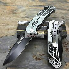 TAC-FORCE Spider Grey Hunting Survival Camping Rescue Pocket Knife TF-553GY