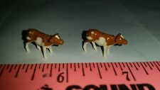 1/64 ERTL FARM TOY QTY OF 2 ASSORTED Guernsey DAIRY COWS BABY CALVES 4UR DISPLAY